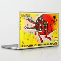 taurus Laptop & iPad Skins featuring Taurus by lanjee