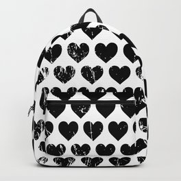 Hearts Pattern | Minimalism | Black-and-White | Modern | Love Backpack