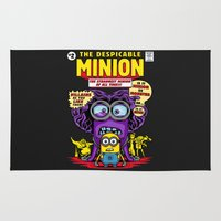 minion Area & Throw Rugs featuring Despicable Minion by harebrained