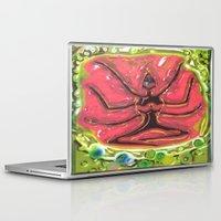 yoga Laptop & iPad Skins featuring Yoga by Tatyana Shayevich