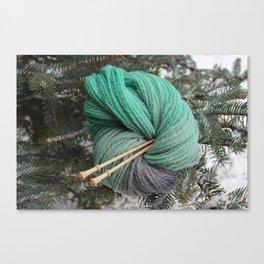 Winter Slytherin Canvas Print