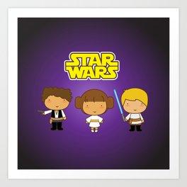 Star Wars Trio Art Print