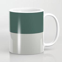 Benjamin Moore 2019 Color of Year Metropolitan AF-690 and Hunter Green Bold Horizontal Stripes Coffee Mug