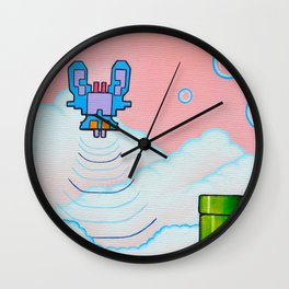 "'Valium' 12"" x 12"" Acrylic and Marker on Canvas 2012 Dan Gribben Wall Clock"