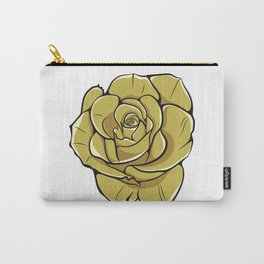 Yellow Rose Flower Carry-All Pouch