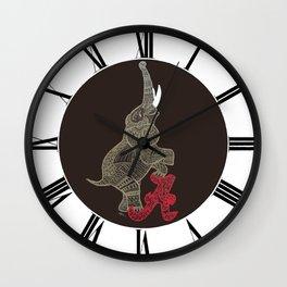 Alabama Proud (Elephant) Wall Clock