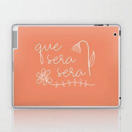 Que Sera Sera Peach Flowers Laptop & iPad Skin