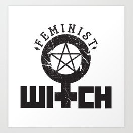 Feminist Witch Art Print