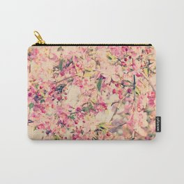 Vintage Pink Crabapple Tree Blossoms in the Sun Carry-All Pouch