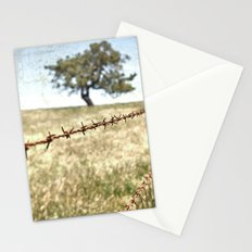 Tree Behind Fence Stationery Cards