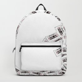 A pile of mixtapes Backpack