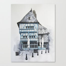 Dinan, Brittany Canvas Print