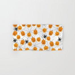 Halloween Pattern Spider Pumpkin Hand & Bath Towel