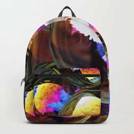 SURREAL WHITE DOVES & IRIDESCENT  SOAP BUBBLES Backpack