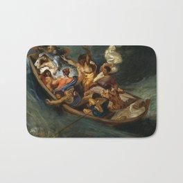 Eugene Delacroix - Christ on the Sea of Galilee, 1841 Bath Mat