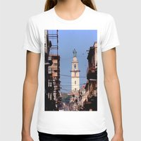 cuba T-shirts featuring Old Downtown Havana Cuba by Rafael Salazar