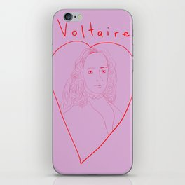 Voltaire in love iPhone Skin