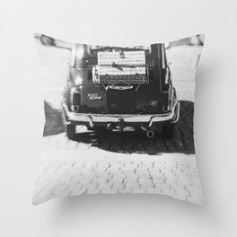 fiat 500 car - his Throw Pillow