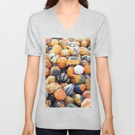 Colorful Gourds B Unisex V-Neck