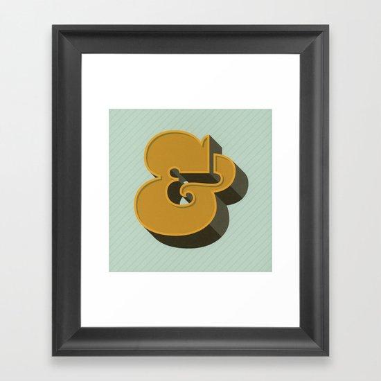 Heavy Ampersand Framed Art Print
