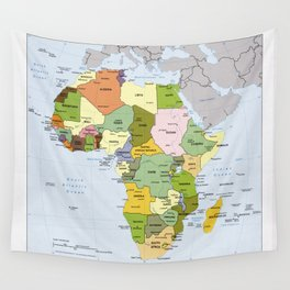 Map of Africa (1989) Wall Tapestry