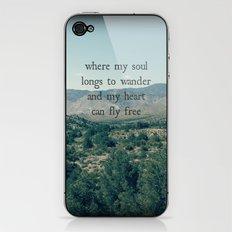 Where My Soul Longs to Wander iPhone & iPod Skin
