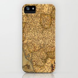 Old map of Germany 1570 iPhone Case