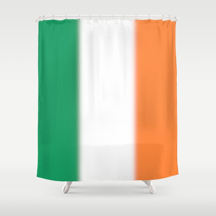 Green White And Orange Ombre Shaded Irish Flag Shower