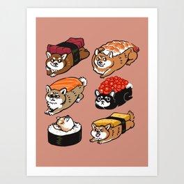 Sushi Shiba Inu Art Print