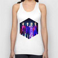 suits Tank Tops featuring The Doctors: Galaxy Suits by Paris Noonan