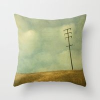 joy division Throw Pillows featuring The Joy Of Division by Honey Malek