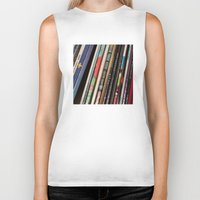 records Biker Tanks featuring Records 2 by RMK Creative