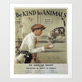 Be Kind To Animals 1 Art Print