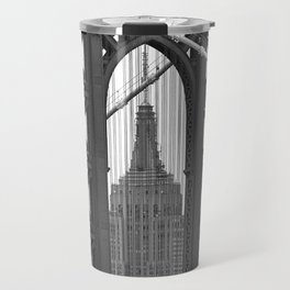 Empire State Building Photography Black & White Empire State Building Contest finalist Travel Mug