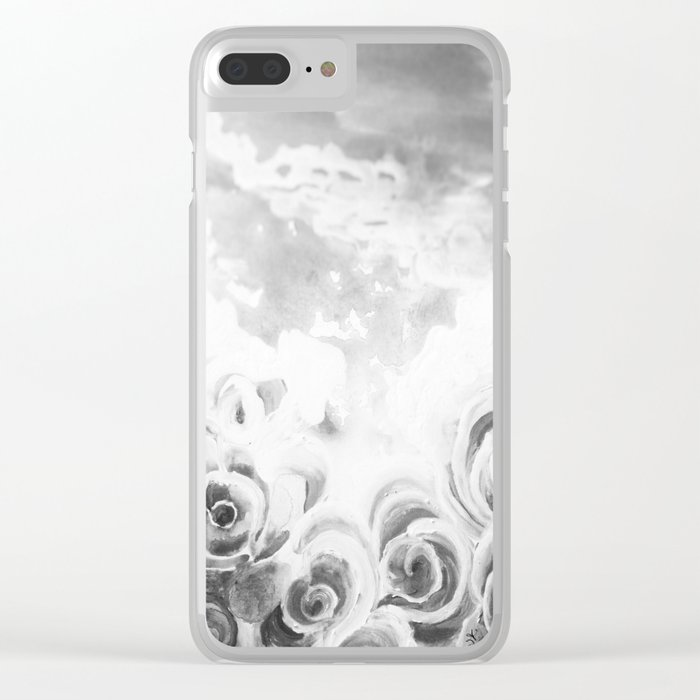 Fading Roses Silver Lining Clear iPhone Case