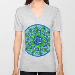 Mayan Mandala Unisex V-Neck
