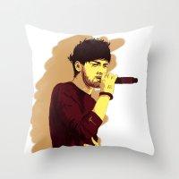 zayn Throw Pillows featuring Zayn by Intrepid Lens