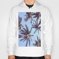 palm trees Hoodies featuring Palm trees by Brenda Alvarez