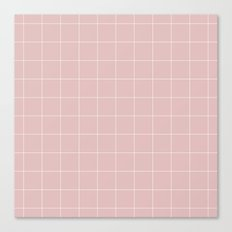 Pink and White Grid ///www.pencilmeinstationery.com Canvas Print