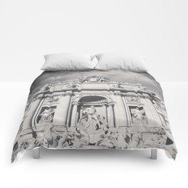 Trevi Fountain, black & white photography of Rome, fine art architecture, italian architectural love Comforters