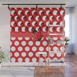 I See Ladybug Dots Wall Mural
