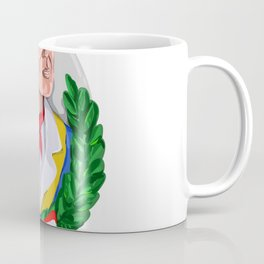 American Patriot Wreath Watercolor Retro Coffee Mug