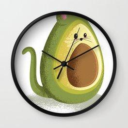 avocado mousse Wall Clock
