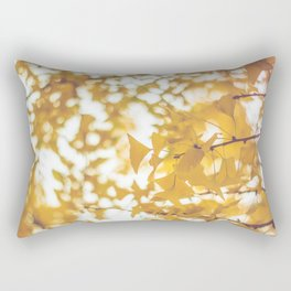 Looking up in yellow Rectangular Pillow