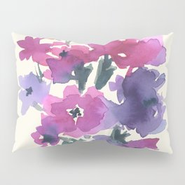 Little Pink Rose Bouquet Pillow Sham