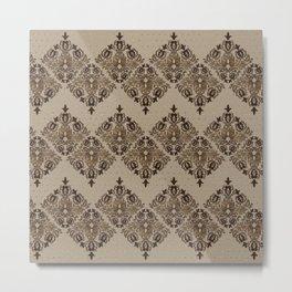 Persian Oriental pattern pastel gold Metal Print