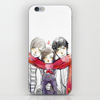 jem iPhone & iPod Skins featuring Jem, Tessa and Will by The Radioactive Peach