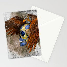 Indian Native Eagle Sugar Skull Stationery Cards