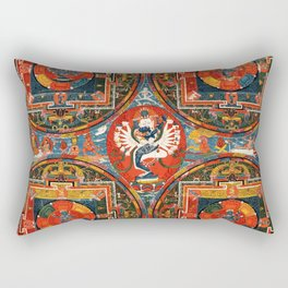 Hevajra Buddhist Thangka Mandala Yidam Rectangular Pillow