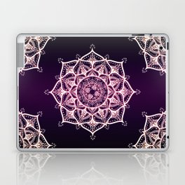Violet Glowing Spirit Mandala Laptop & iPad Skin